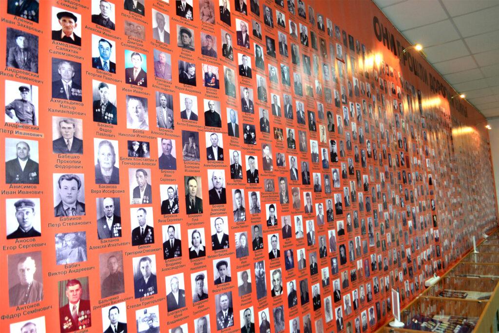 Карасук музей фото в зале ВОВ